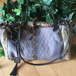 BCBG Max Azria suede purse